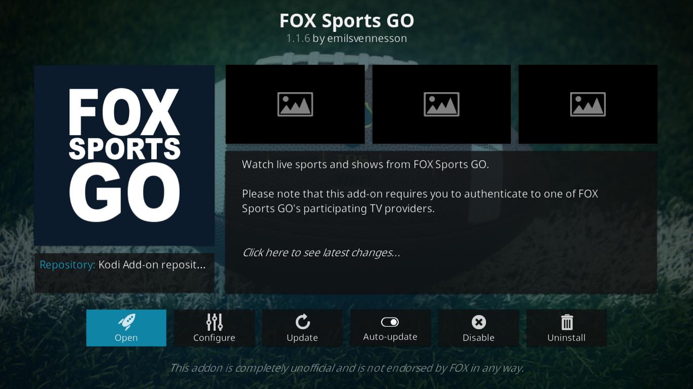 Fox Sports Go Information