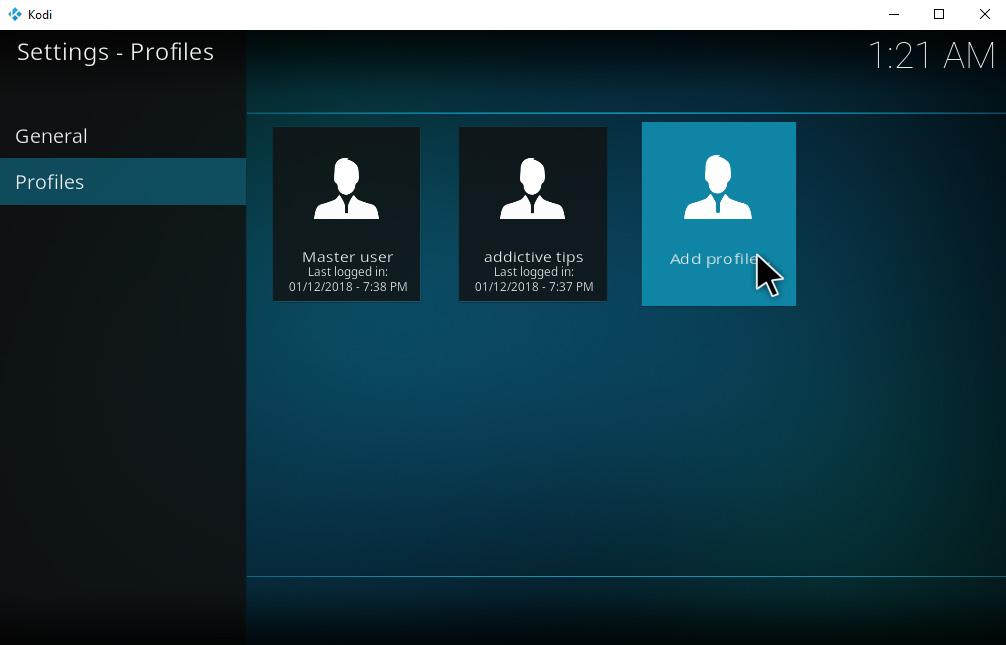 How To Set Up And Manage Kodi Profiles – Create New Profile – Profiles