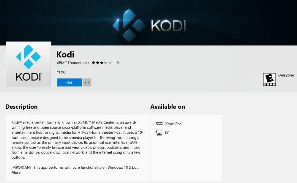 Install Kodi on Xbox One 4 - Install page