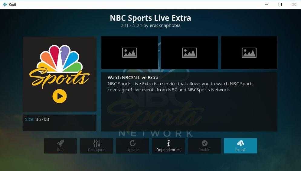 NBC Sports Live Extra Official Kodi Add-on