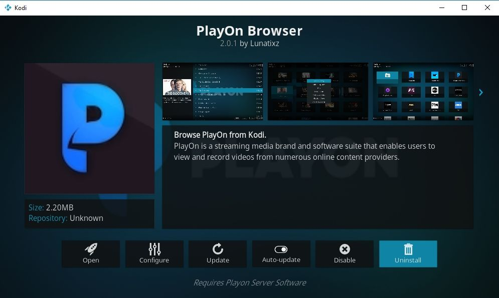 PlayOn Browser Kodi Add-on 01