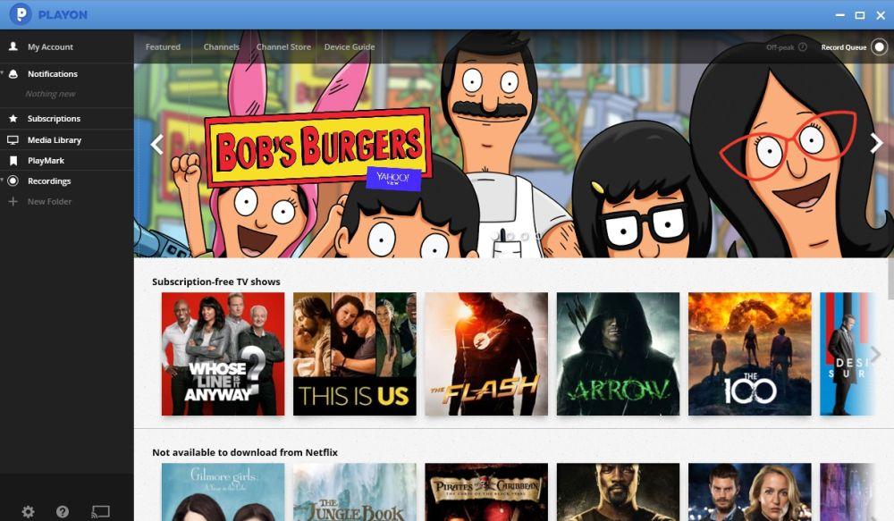 PlayOn Browser Kodi Add-on 07 - PlayOn main page