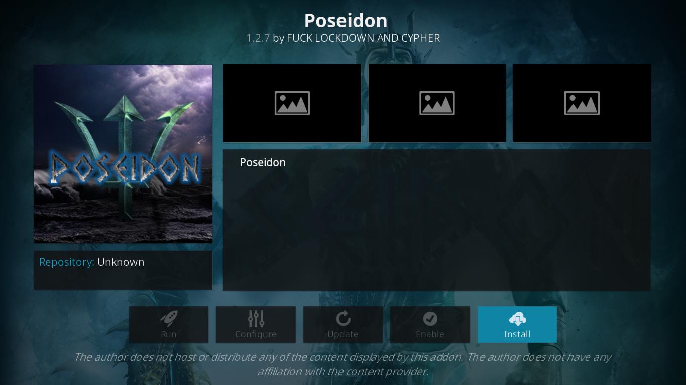 Poseidon Add-on Installation