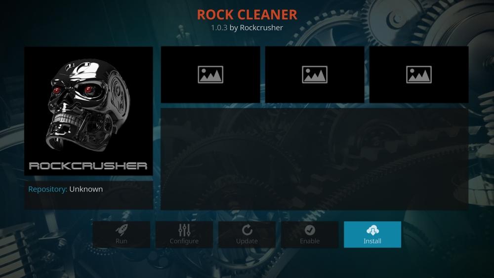 Rock Cleaner maintenance tools for Kodi