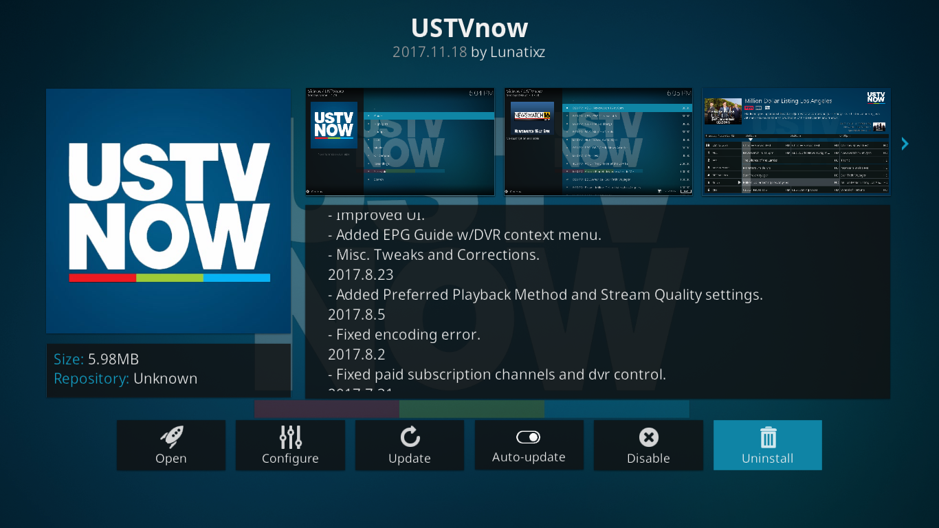 USTVNow Information