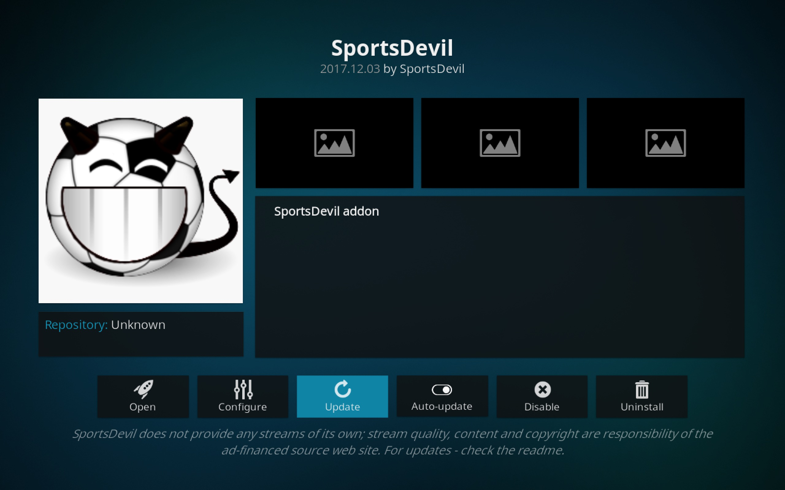 Watch NFL on Kodi – SportsDevil