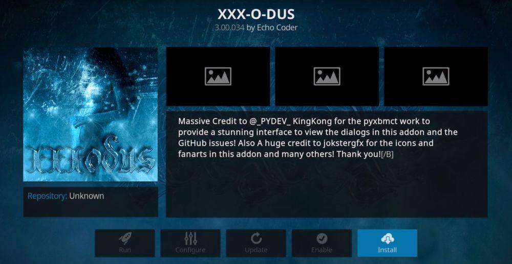 XXX-O-DUS porn addon for Kodi