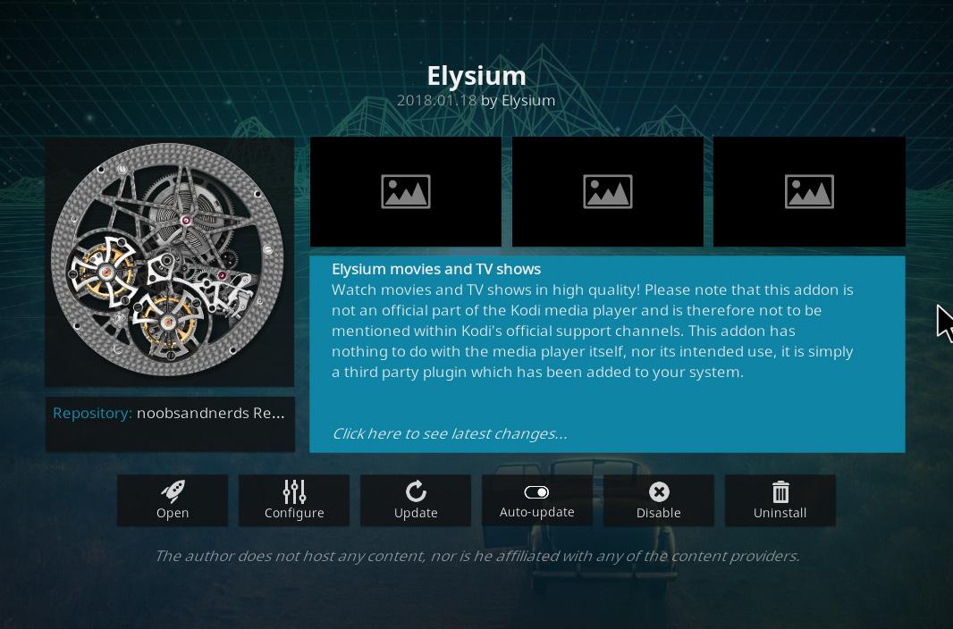 Elysium Kodi Add-on