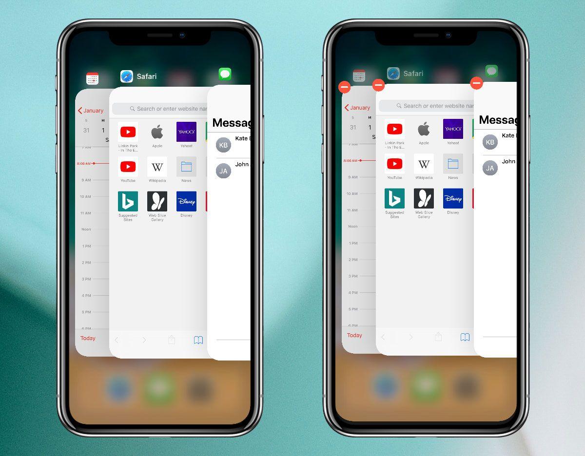 iphone x quit apps