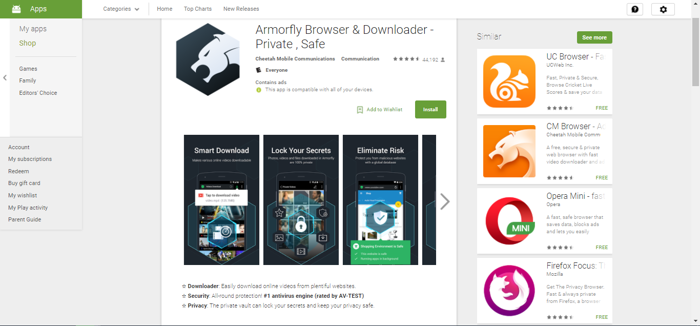 Armorfly on Play Store