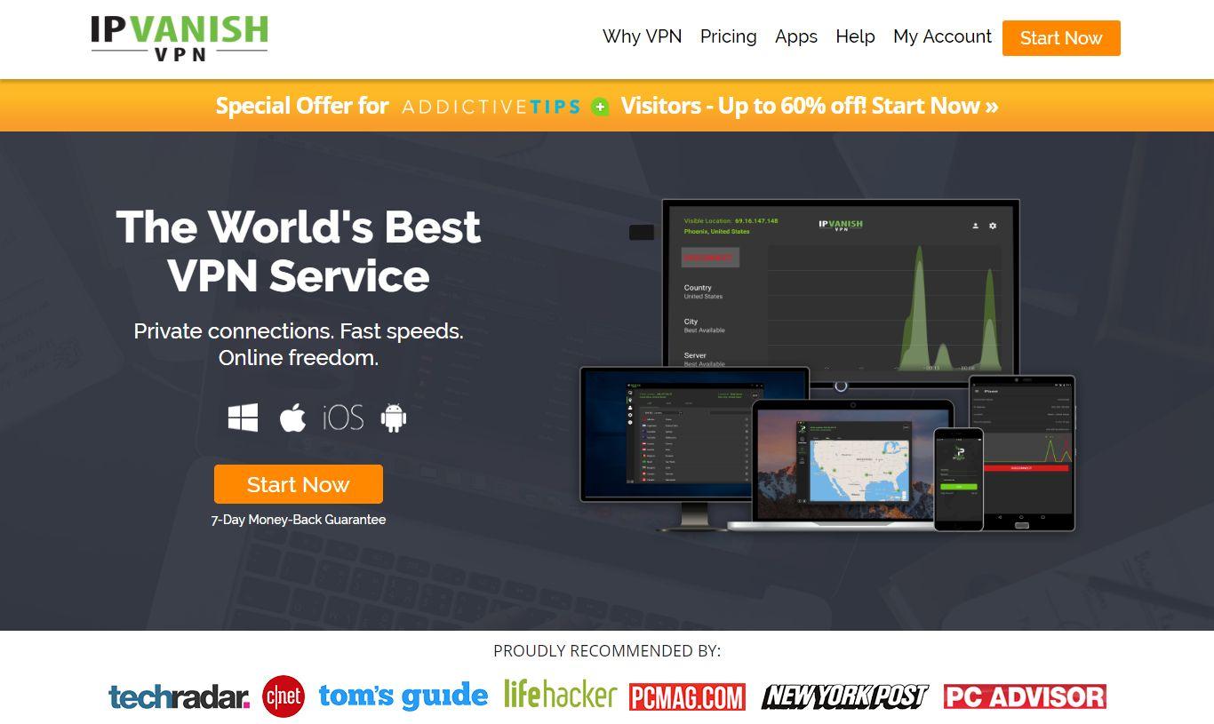 Best VPNs For Kodi - IPVanish