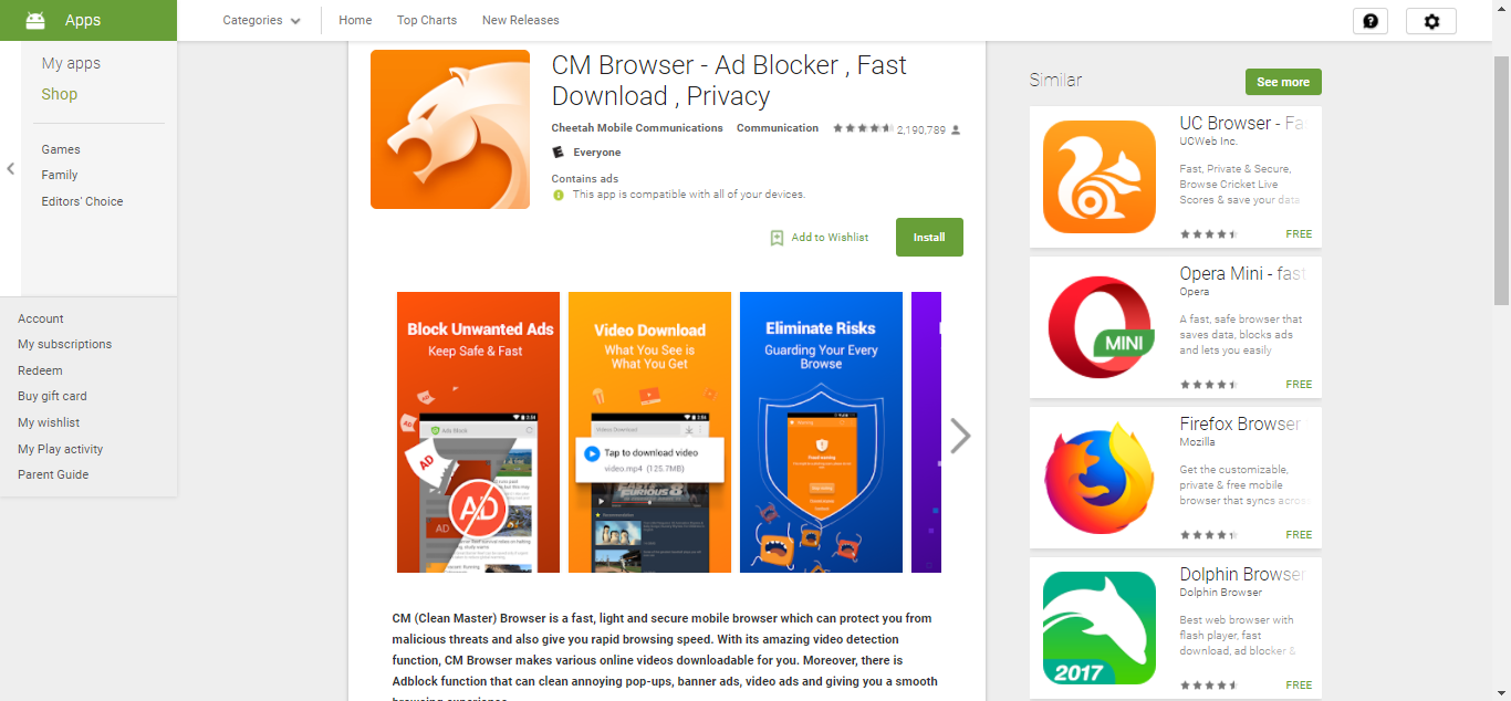 CM on Play Store
