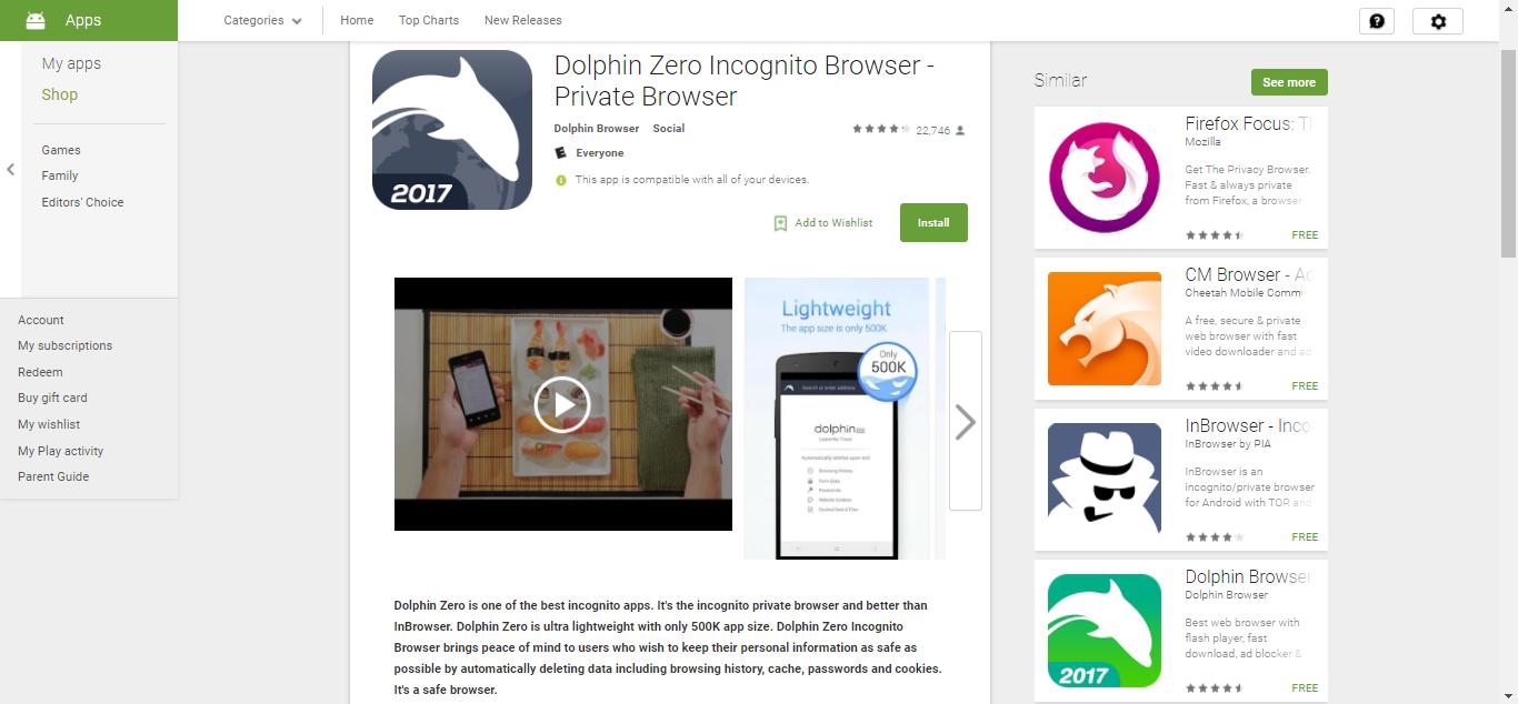Dolphin Zero on Play Store