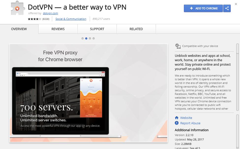 DotVPN Chrome Extension