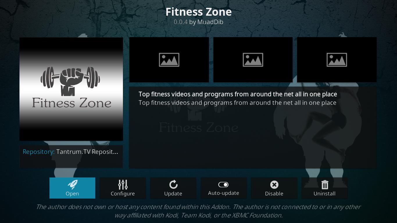 Fitness Zone Information