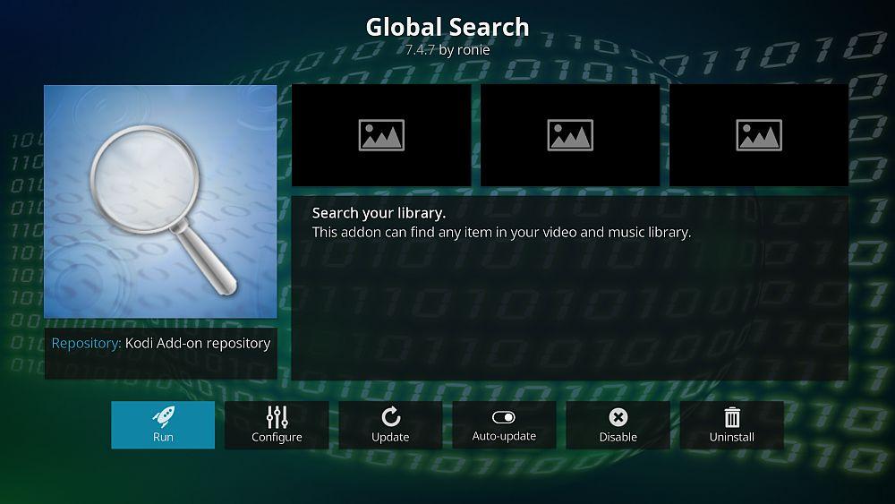 Global Search Kodi addon
