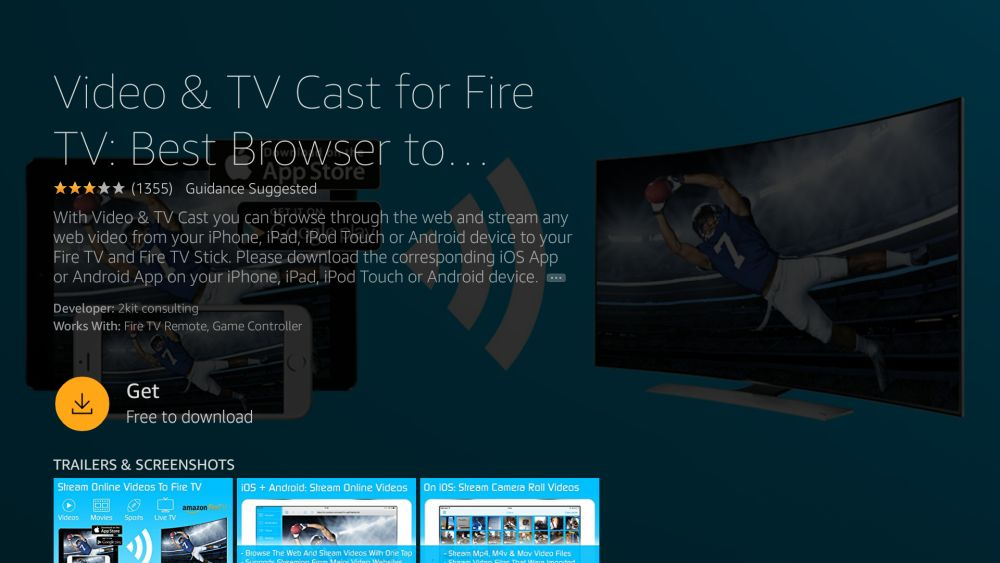 How to Mirror or Cast iPhone to Fire TV 4 - Video TV cast