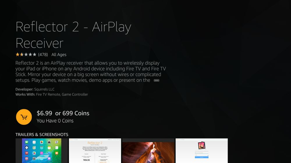How to Mirror or Cast iPhone to Fire TV 9 - Reflector 2
