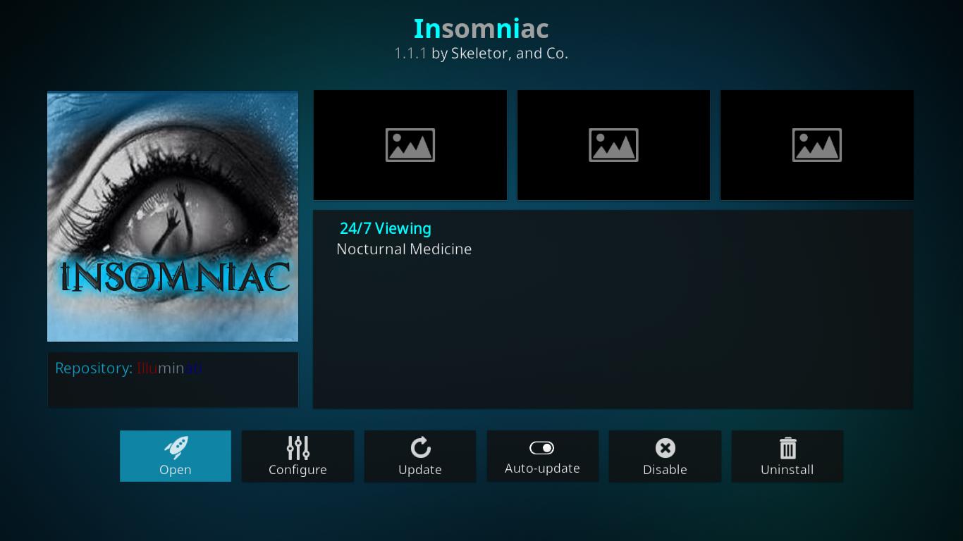 Insomniac Add-on Information