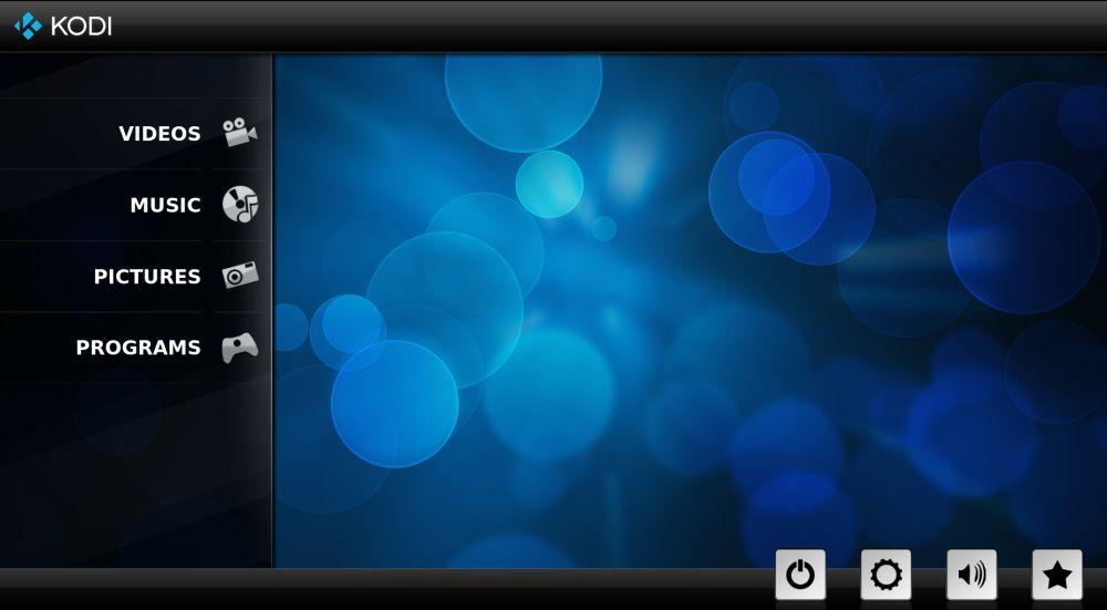 Install SPMC Kodi Fork on Amazon Fire TV 3 - SPMC main screen