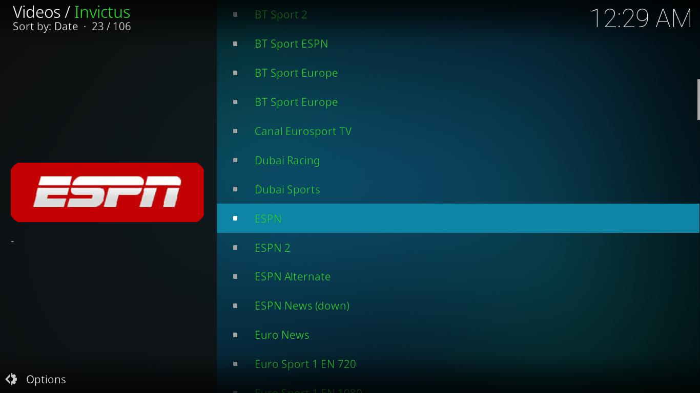 Invictus Sports Channels