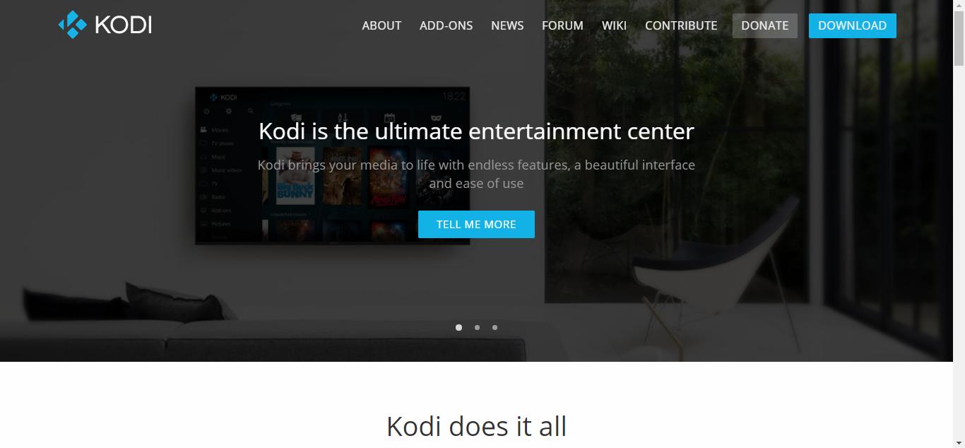 Kodi Homepage