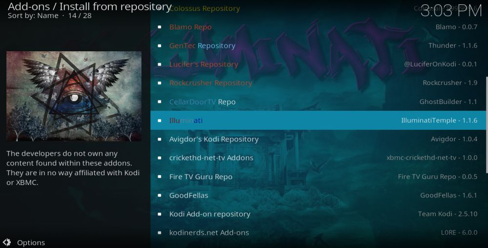 Night Terrors 7 – Install from repository