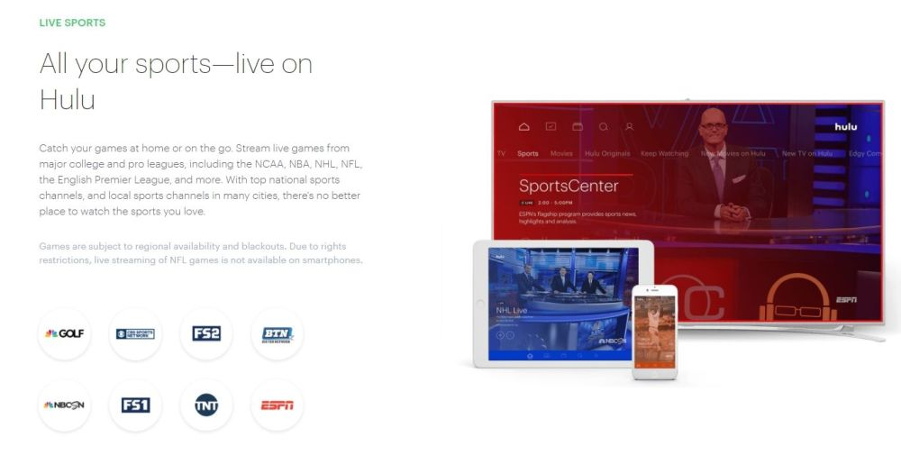 Watch ESPN Live on Fire TV 4 - Hulu with Live TV