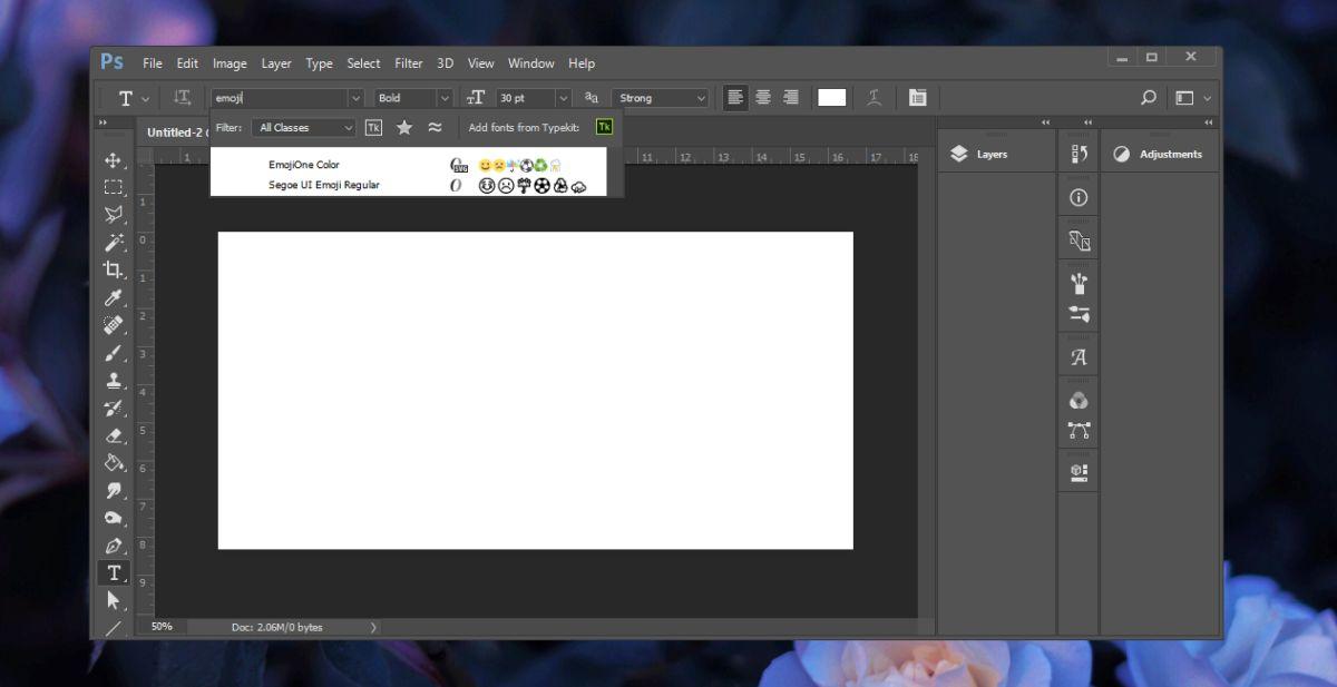 emoji font photoshop