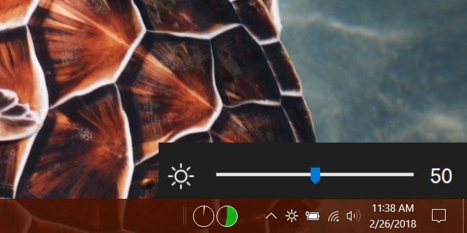 windows 10 brighntess slider