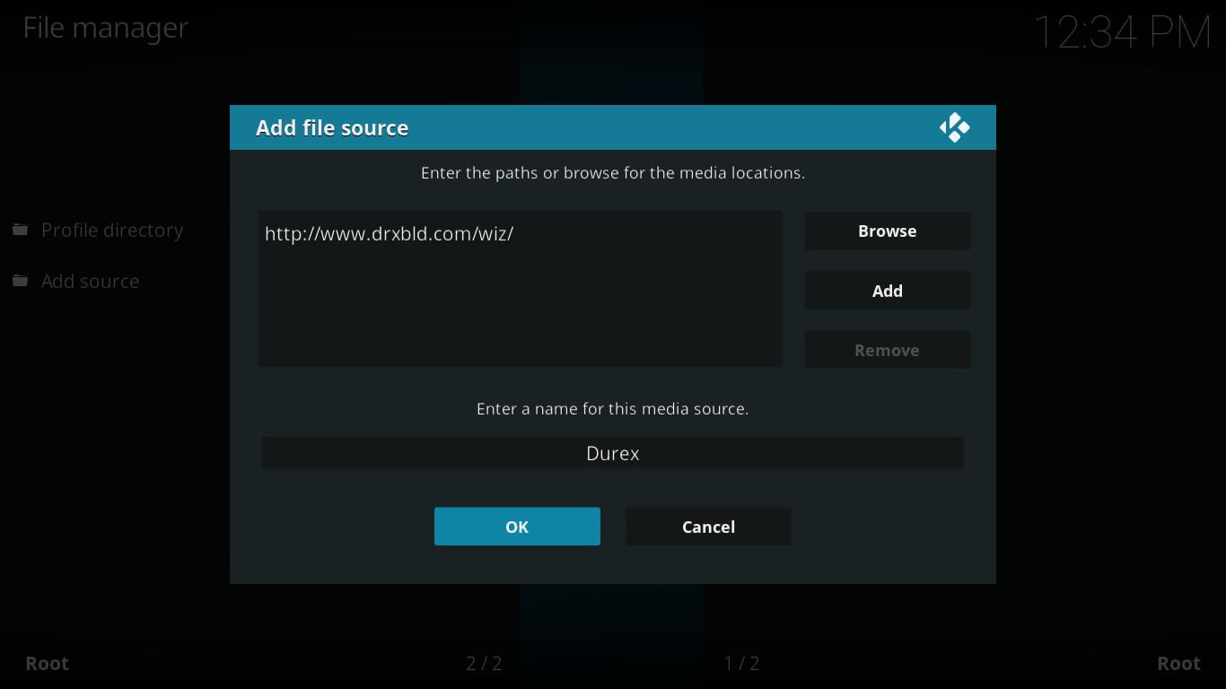 Add Durex File Source