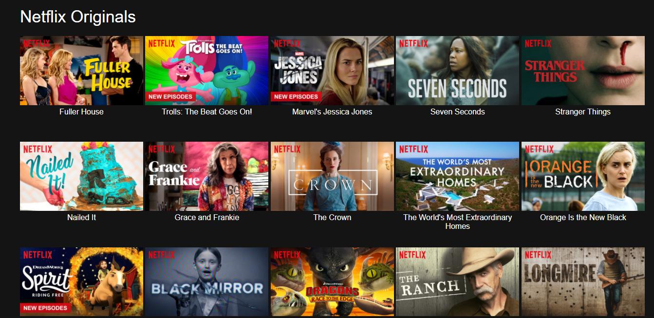 American Netflix Originals