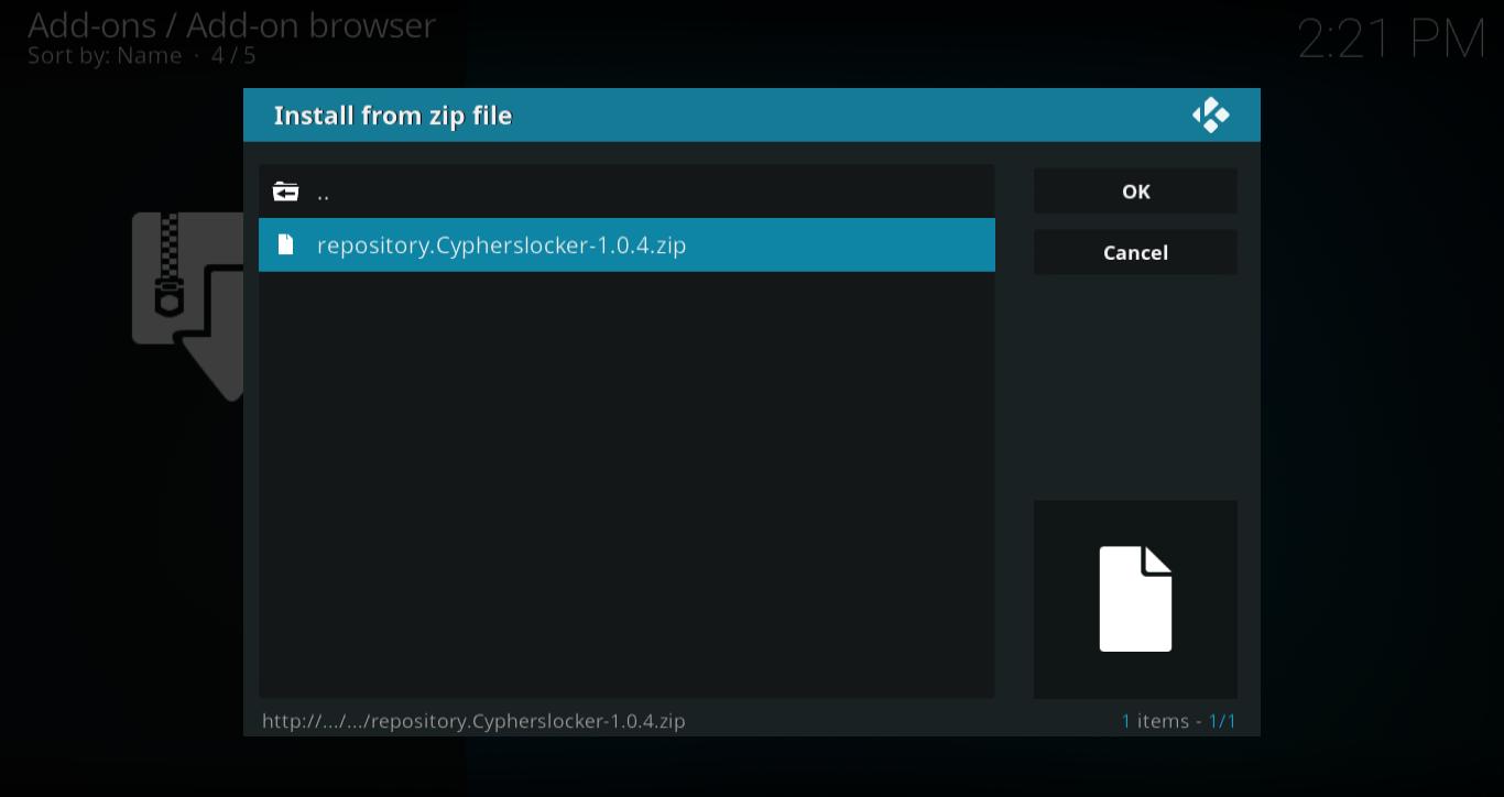 Click repository.Cypherslocker