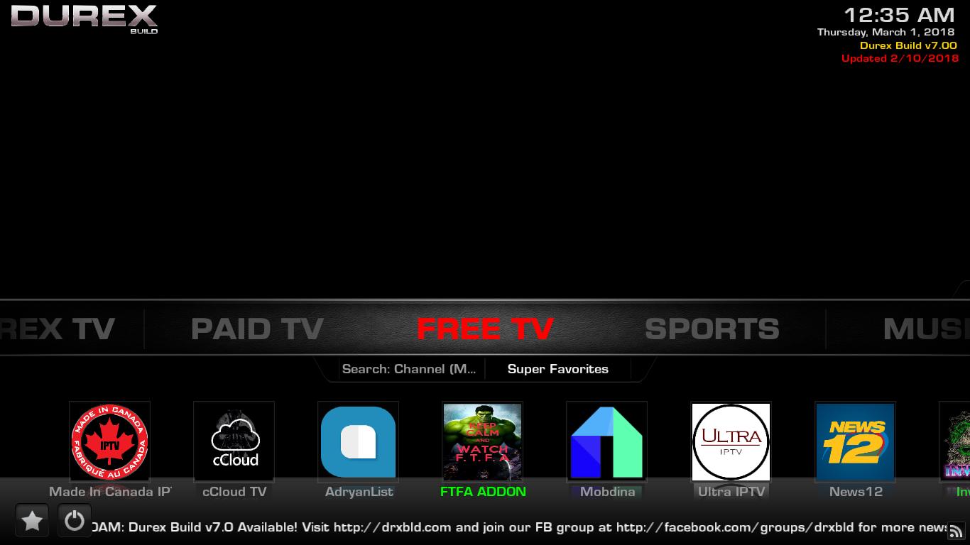 Durex Build Free TV