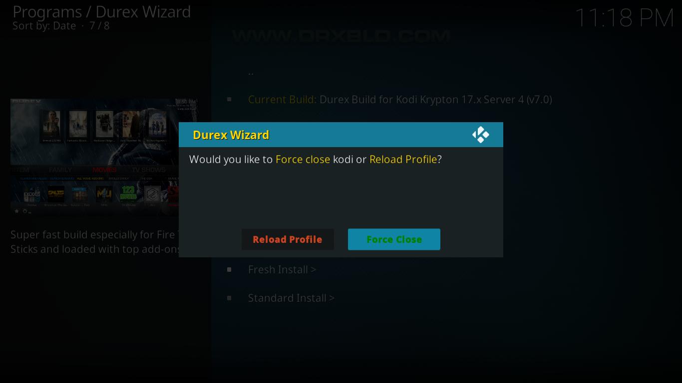 Durex Build Reload Or Close