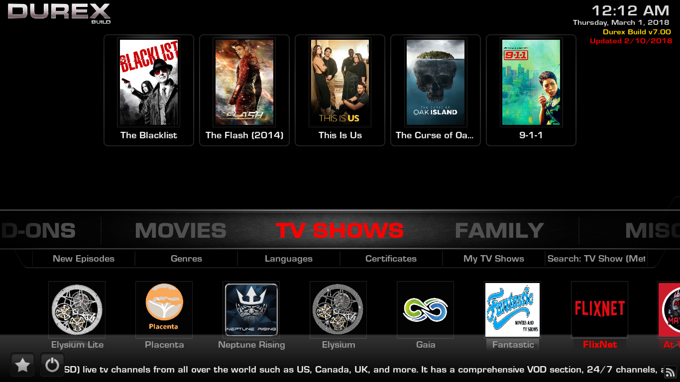 Durex Build TV Shows