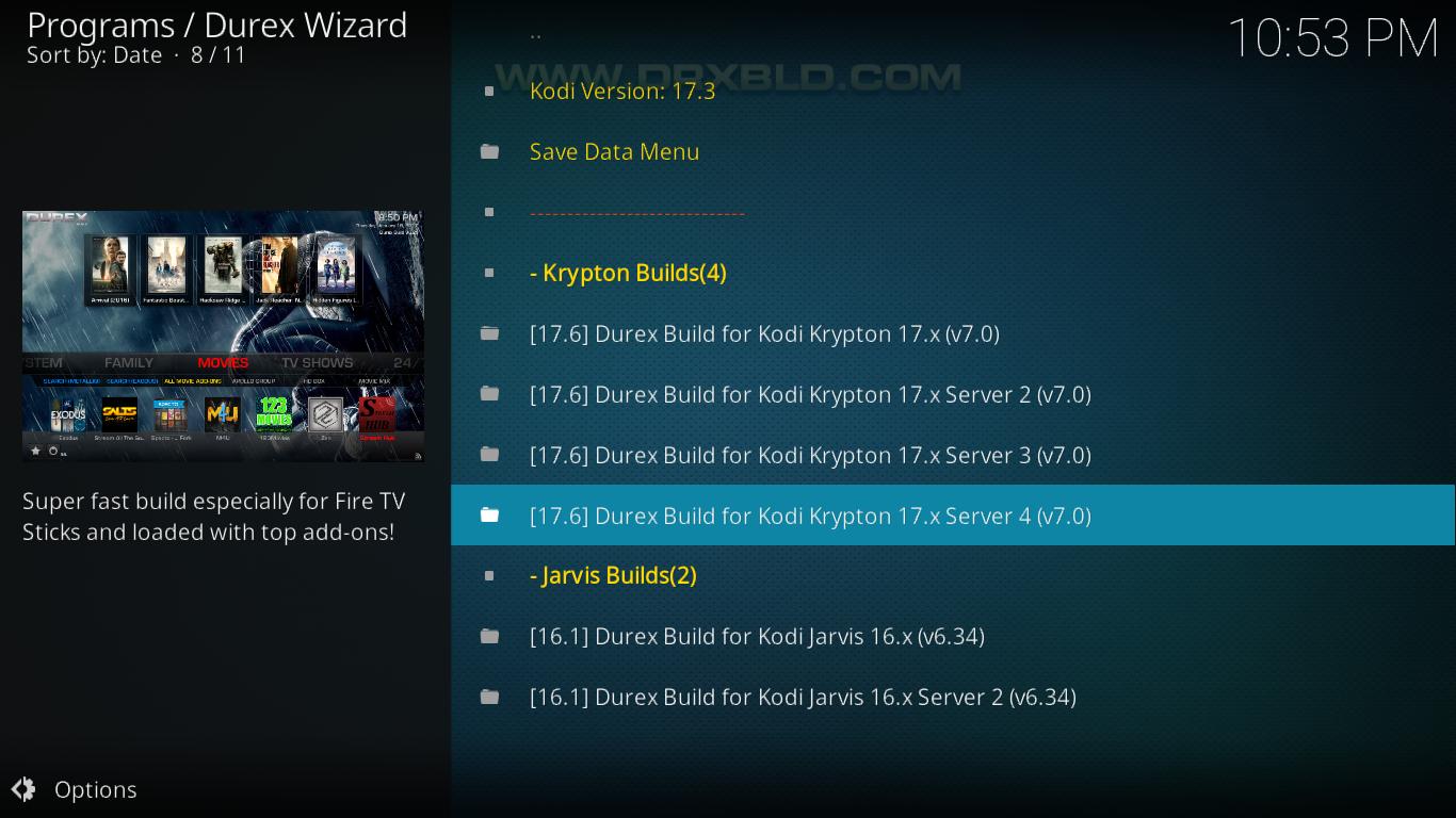Durex Choose Version And Server
