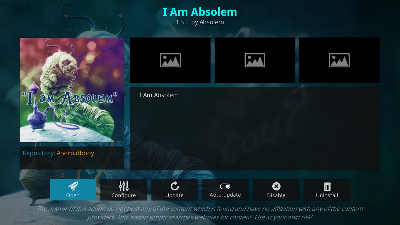 I Am Absolem Add-on Information