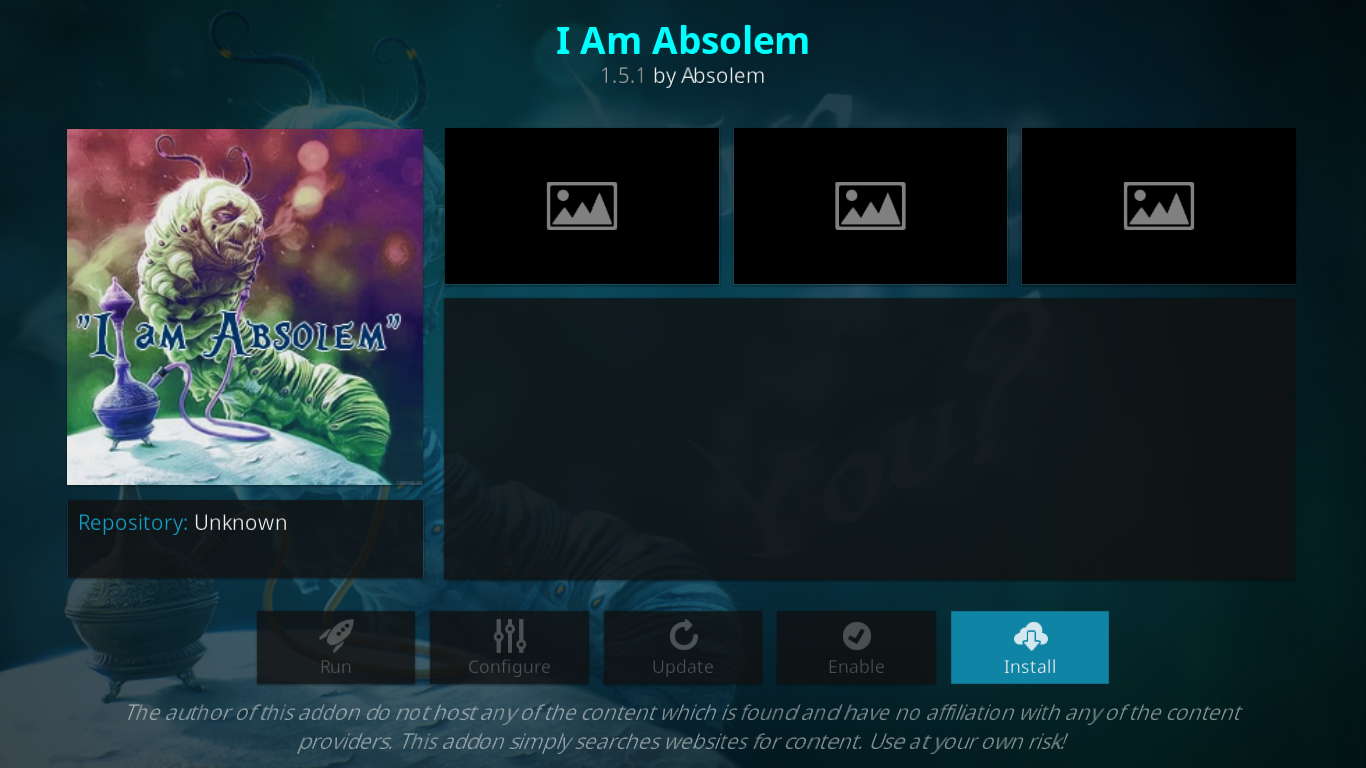I Am Absolem Add-on Installation