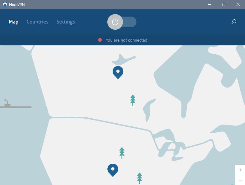 NordVPN App Main Screen