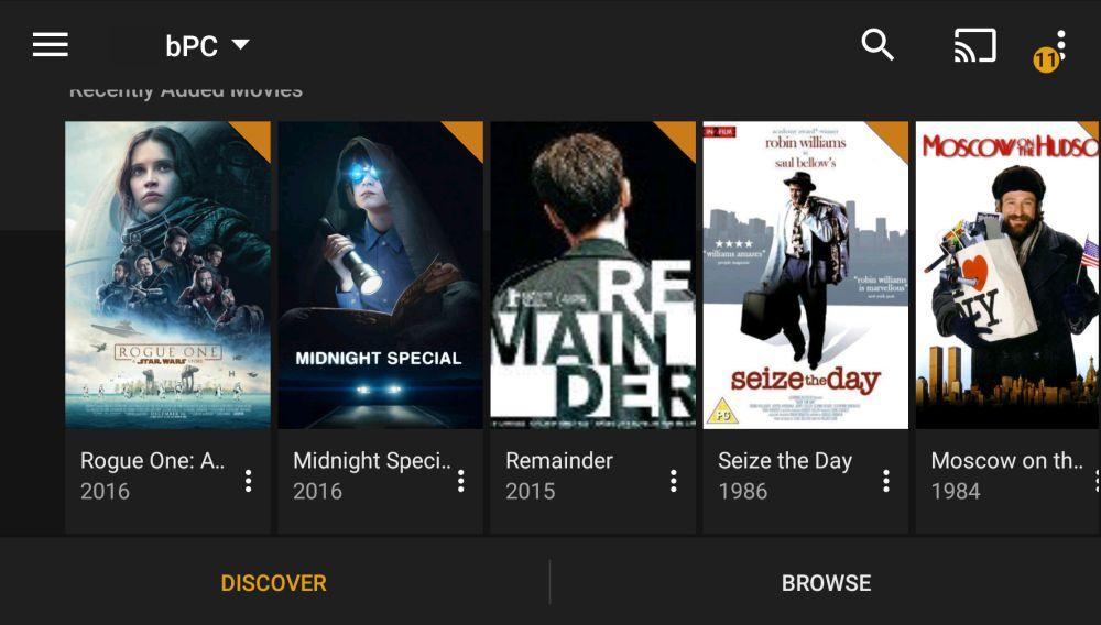 Stream with Plex Media Server 7 -Plex player on Android