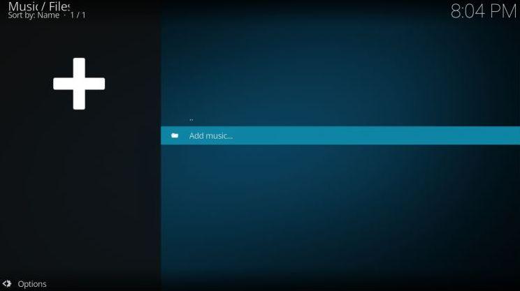 Add Music to Kodi Library 3 -Adding music library