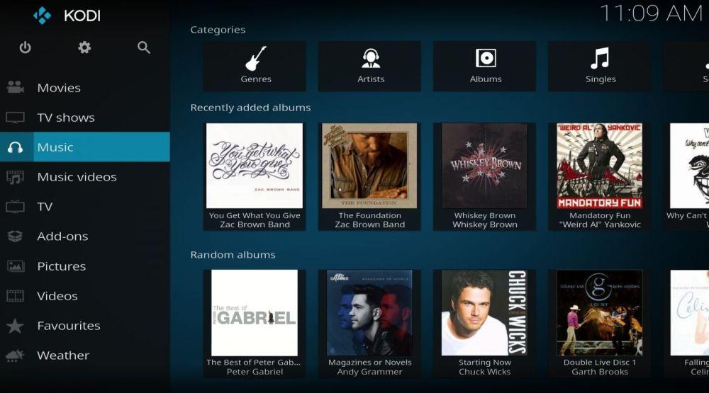 Add Music to Kodi Library 6 -Music collection