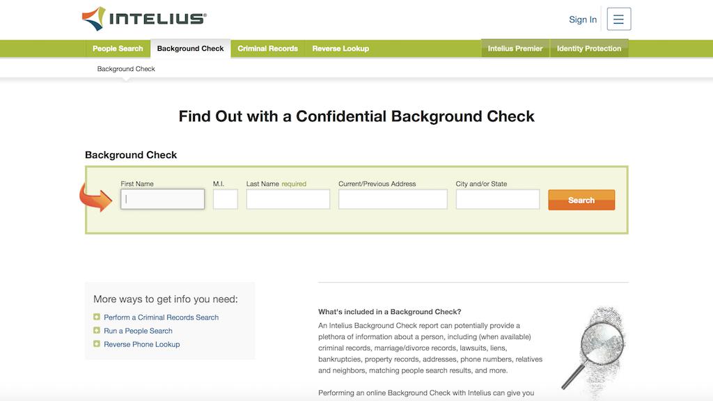 Intelius - background checks
