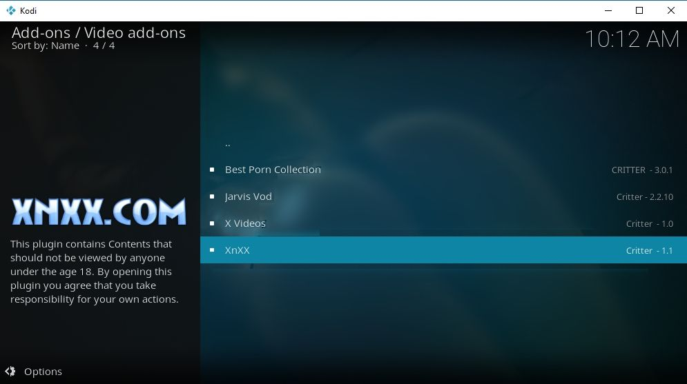 XnXX Kodi Add-on – Other Porn Add-ons in Jarvis Repo