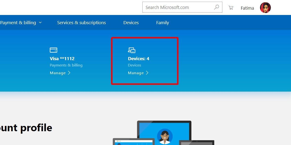 ms account devices