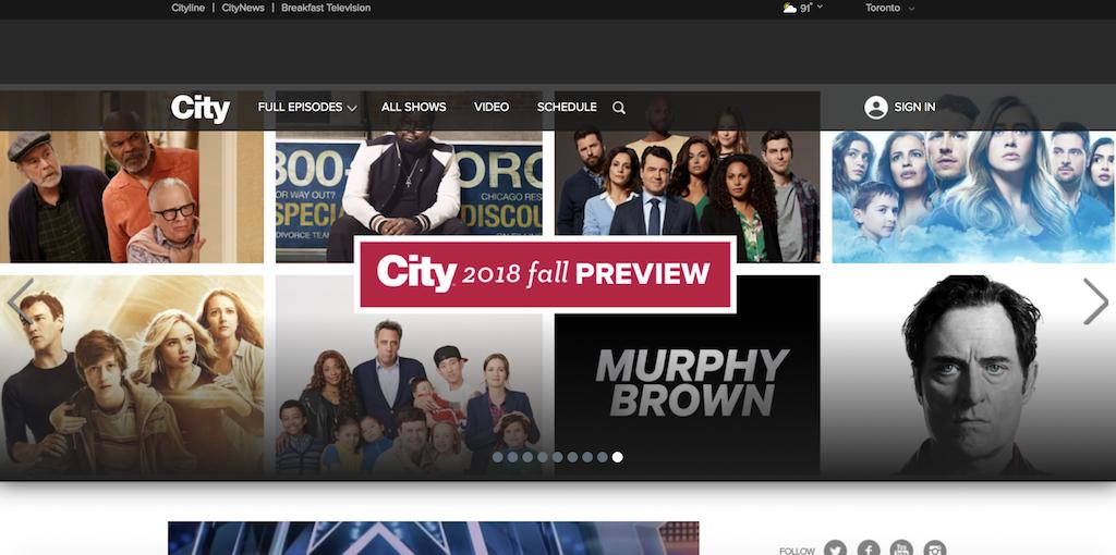 City TV Online Streaming portal