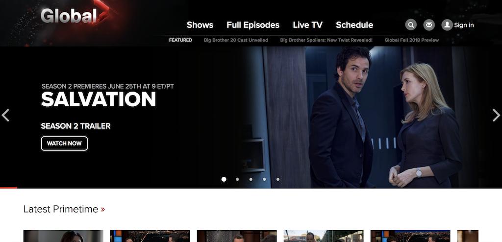 Global TV online streaming service