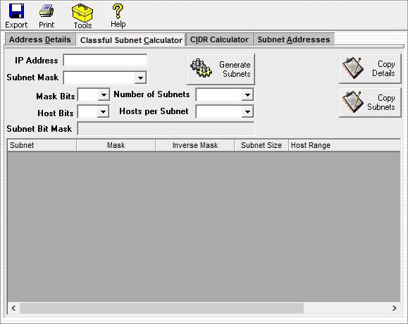SolarWinds Advanced Subnet Calculator