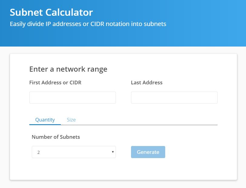 Spiceworks Subnet Calculator